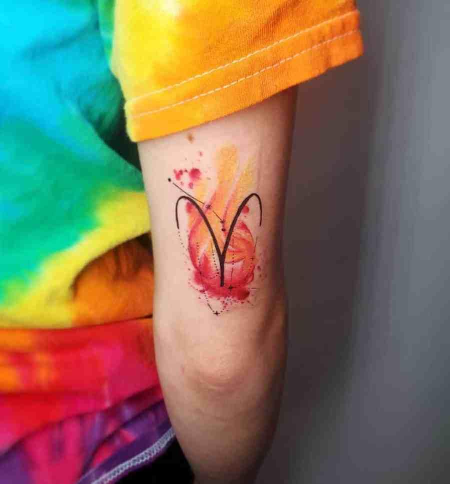 Zodiac tattoo aries tattoo 2021081904 - Best Zodiac Tattoo Designs for Each Sign
