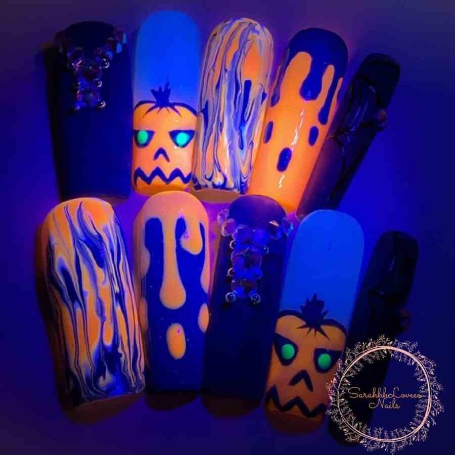 Halloween Nail Art 2021091918 - 20 Halloween Nail Art Designs Easy to Copy