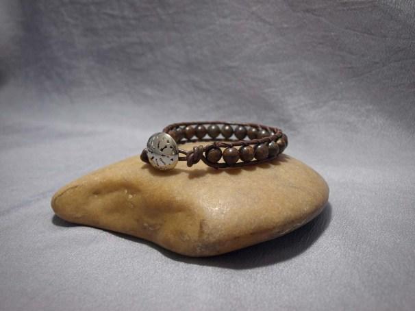 Single wrap bracelet 8mm Bronzite
