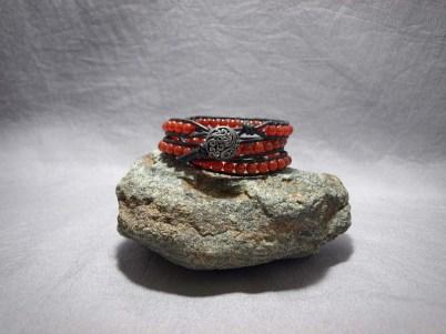 3 wrap bracelet 6mm Carnelian