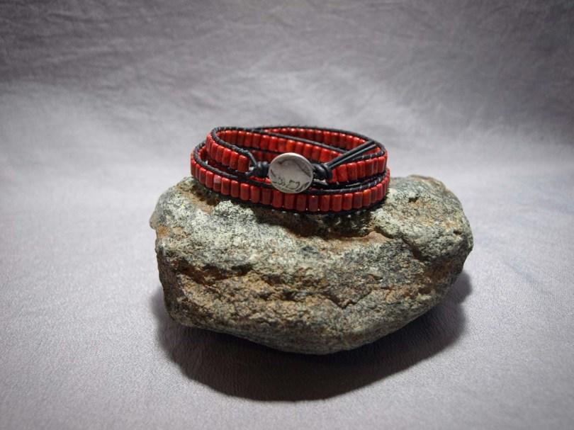 3 wrap bracelet Apple Coral Barrel