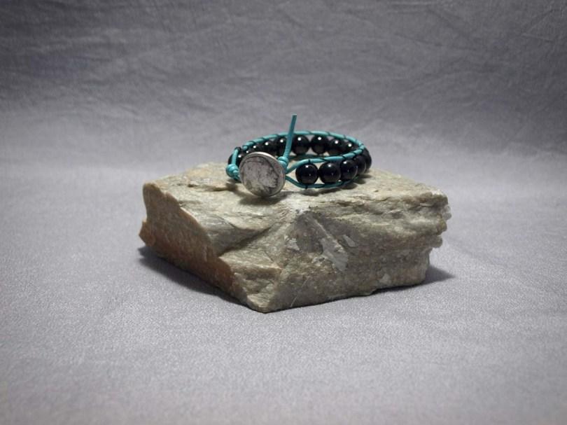 Single wrap bracelet 10mm Onyx