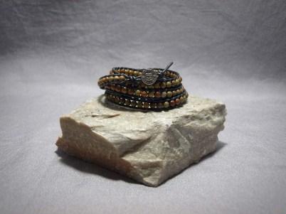 5 wrap bracelet 4mm Red Creek Jasper