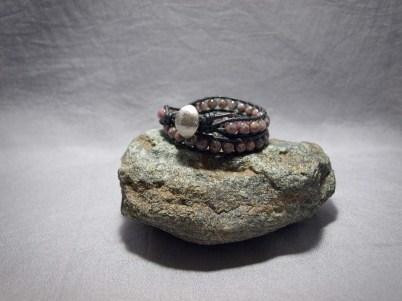 3 wrap bracelet 6mm Tourmaline