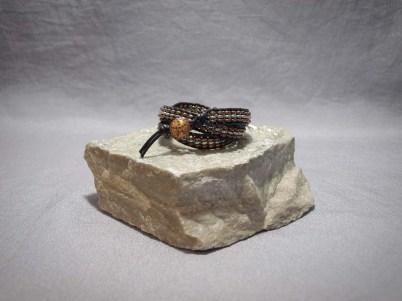 3 wrap bracelet Hematite Galvanized Silver & Copper