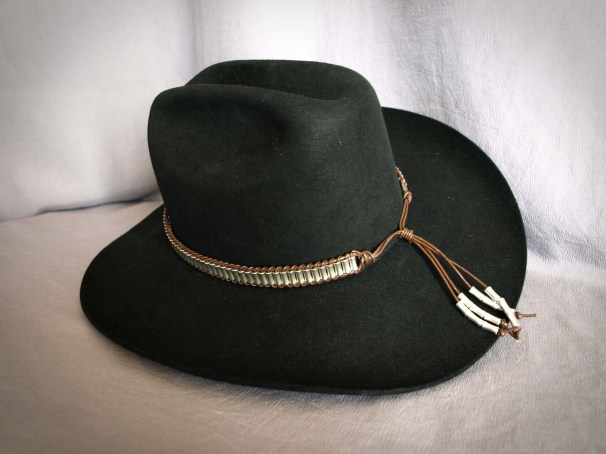 Small Pewter Tubes Hatband