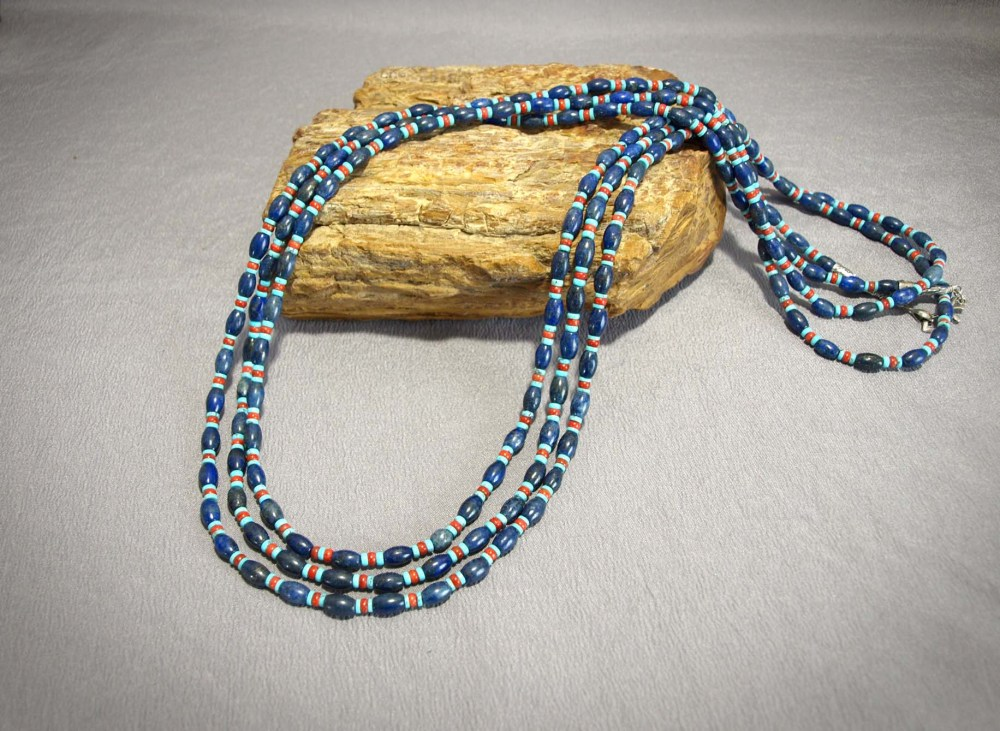 Lapis, Turquoise and Apple Coral