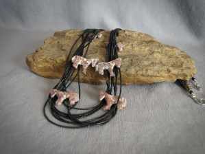 Black seed beads and Horses