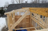 First roof joists.