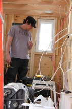Brandon from Flux Electrical surveying his great work.