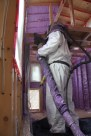 EcoHome Insulation installing the spray foam.