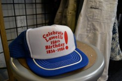 A vintage Lowell trucker hat at SMC.