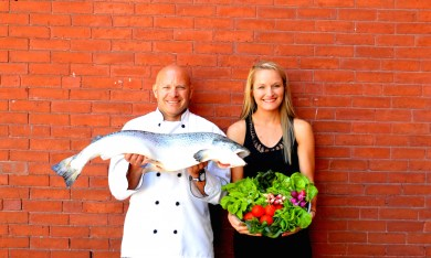 Chef Scott Pelletier and Fuse Restaurant Manager Jackie Brown.