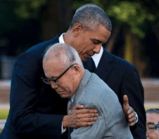 Shigeaki Mori and President Barack Obama