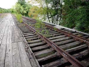 Concord River train tracks. Photo by Tory Germann.