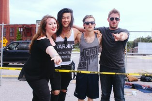 From left to right: Jessica Prouty, Jon Suh, Cameron Pelkey and Jansen Manning.