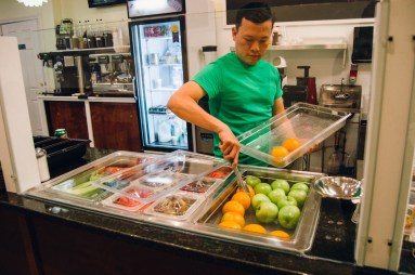 GreenSpoon's Tom Le specializes in smoothies made fresh to order.