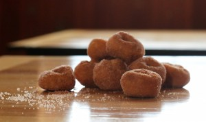 Photo by Allegra Boverman. Cider doughnuts from Parlee Farms in Tyngsboro.