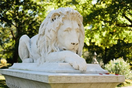 Ayer lion at Lowell Cemetery