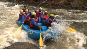 Zoar Outdoor white water rafting