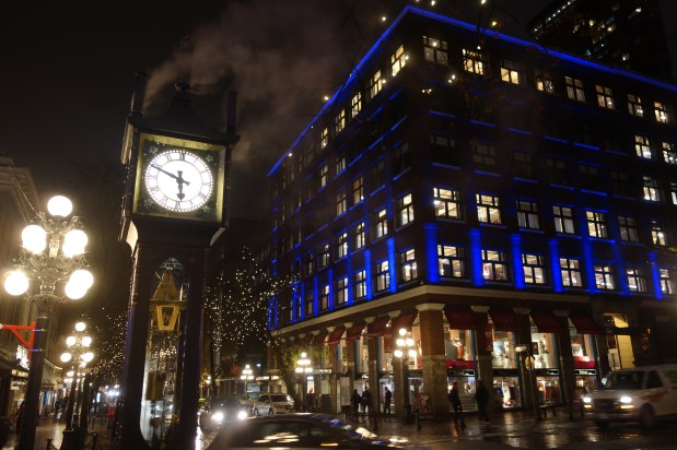 Gastown and the Steam Clock in Vancouver