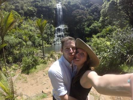 Us at the Karakare waterfall