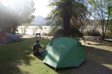 Our campsite at Akaroa