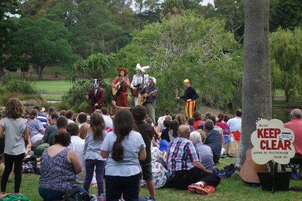 A performance of The Wind and the Willows in the Royal Botanic Gardens