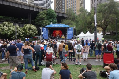 """Australia Day at The Rocks - fantastic music by a band called Oka - quote from their website: """"Try to imagine Bob Marley meets Stevie Wonder via the chemical brothers, on acid, playing in a steaming rainforest with a didgeridoo and you are getting close"""""""