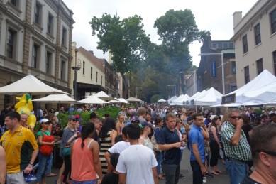 Australia Day at The Rocks - many food stalls
