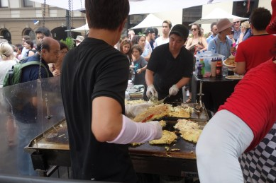 Australia Day at The Rocks - a Japanese Okonomiyaki stall