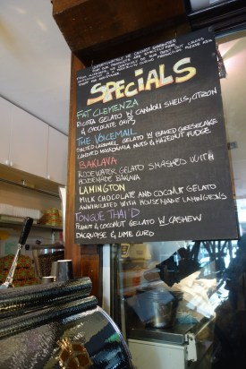 Gelato Messina, Darlinghurst. I had 'The Voicemail' and 'Tongue Thai'd' - wow!