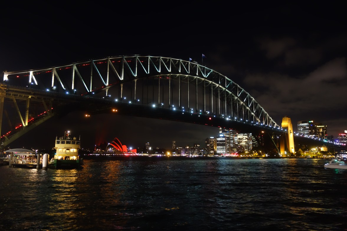 Harbour by night, from Luna Park