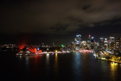 Harbour by night from the Harbour Bridge