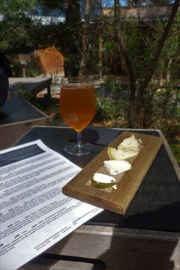 Tasting flight and farmhouse ale