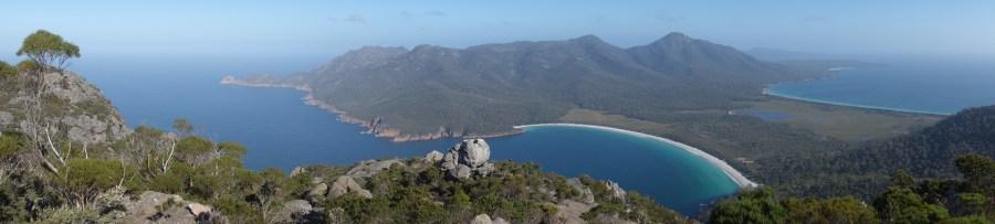 Wineglass Bay and Hazards Beach from Mt Amos