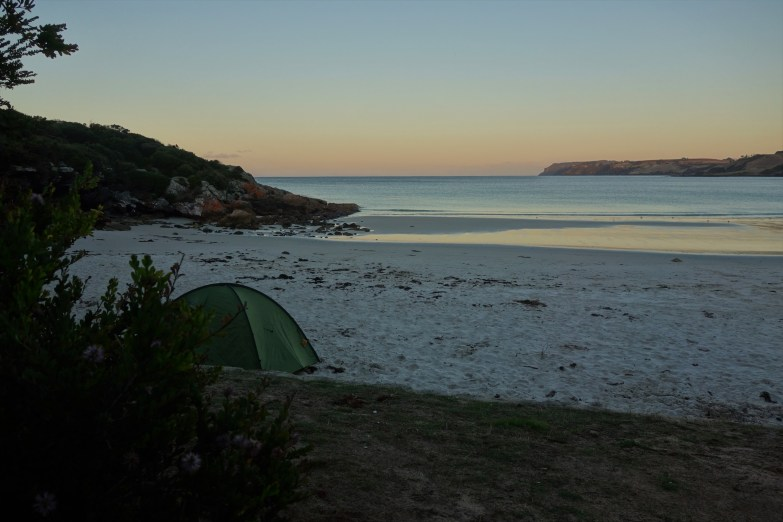 Camping on Boat Harbour Beach