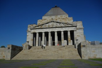 Shrine of Remembrance - stone from Buchan Caves was used inside