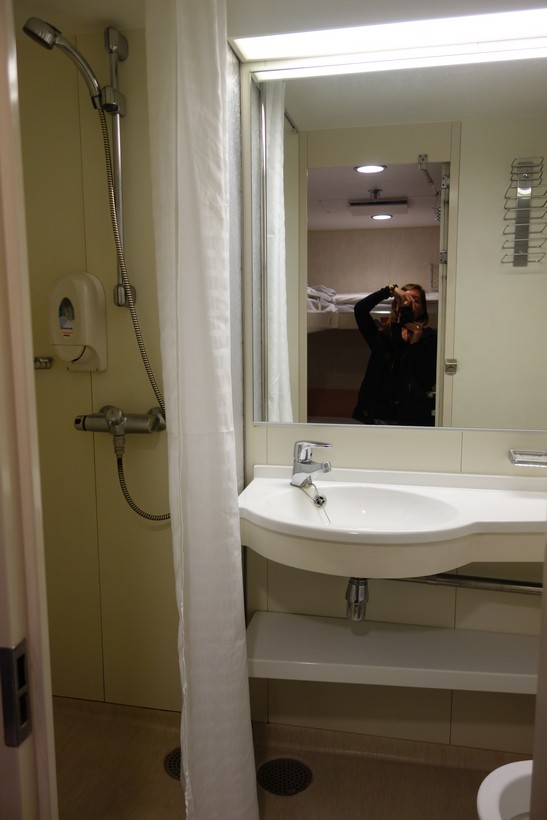 The 4-bed ferry dorm bathroom