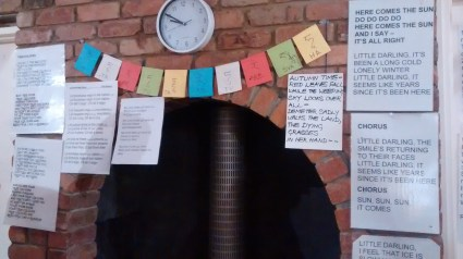 Lyrics to songs we were singing one 'music night' - loved it!