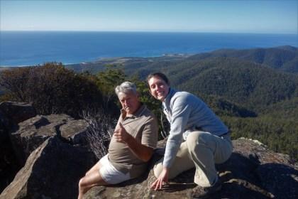 Myself and my friend Lance atop St Paticks Head