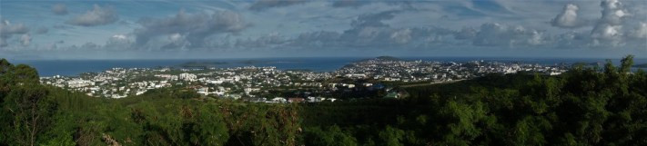Looking out over Noumea