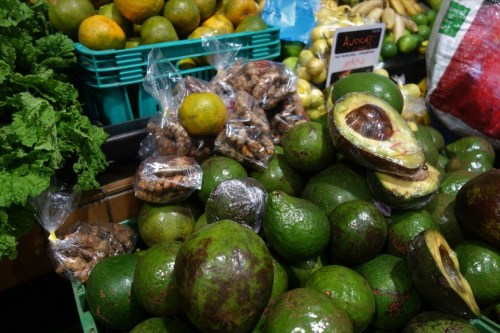Massive avocados at the market