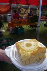 Pineapple sponge at the Tjibaou Cultural Centre market