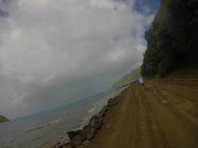 Mountain-biking to the beach