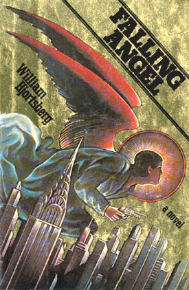 Cover of Falling Angel by William Hjortsberg; cover shows an angel with red wings above and behind a cityscape. The cover very much looks like it's from the 70s (and it is).