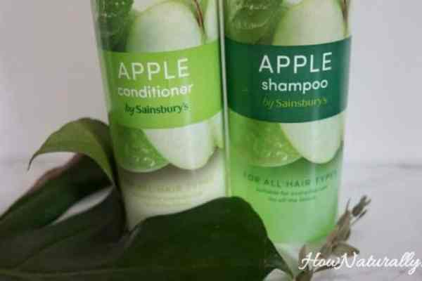 Sainsbury's shampoo and conditioner | apple green