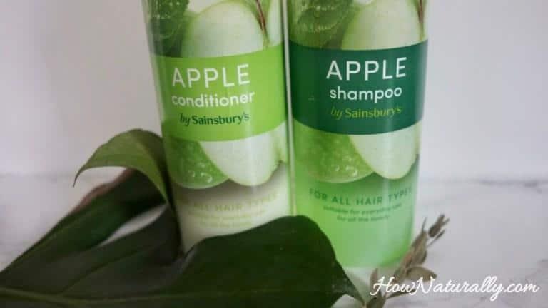 Sainsbury's shampoo and conditioner | apple green