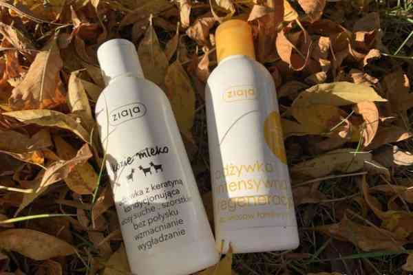 Ziaja conditioners: goat's milk and honey regeneration