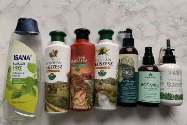 Natural hair care empties from 2020